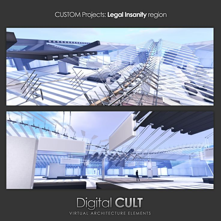 Second Life: a new custom building project by Digital CULT for Legal Insanity