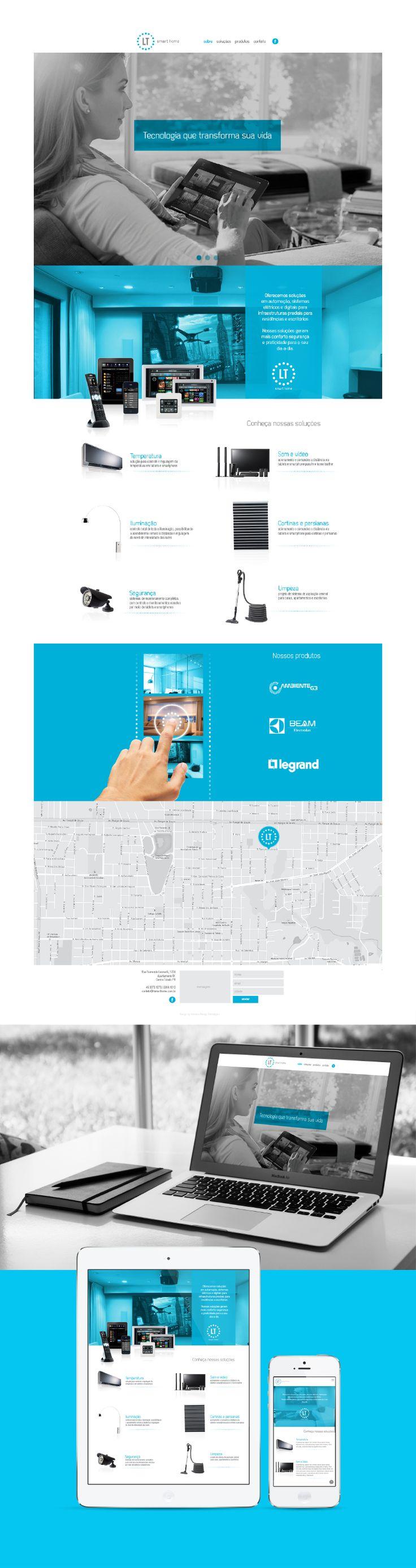 LT Smart Home web design by Kadabra Design Estratégico // kadabra10.com // ltsmarthome.com.br