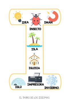 Vocales Abecedario Espanol Vowels Alphabet Spanish Free Sample