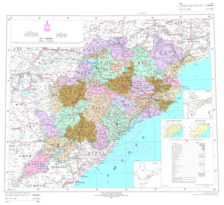 Map of the Indian state of Odisha ( ଓଡ଼ିଶା ) in the Odia ( ଓଡ଼ିଆ ) language