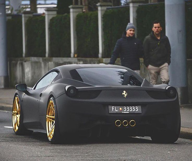 Matte Black with Gold Ferrari  Sign up for Automo Weekly at  http://weekly.getautomo.com