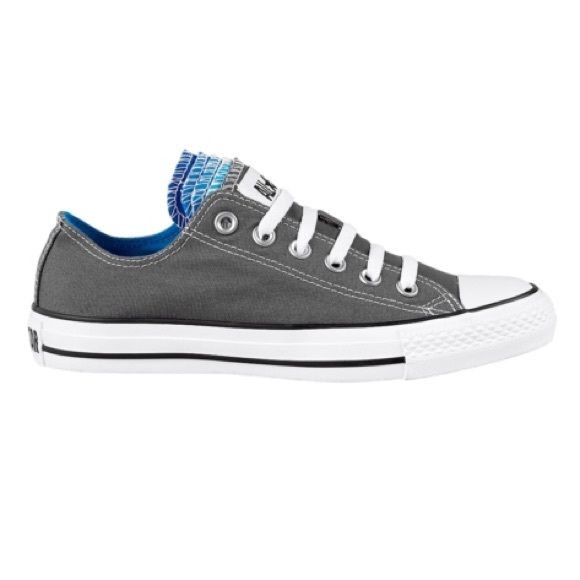 Grey Converse with Blue Multi Tongue