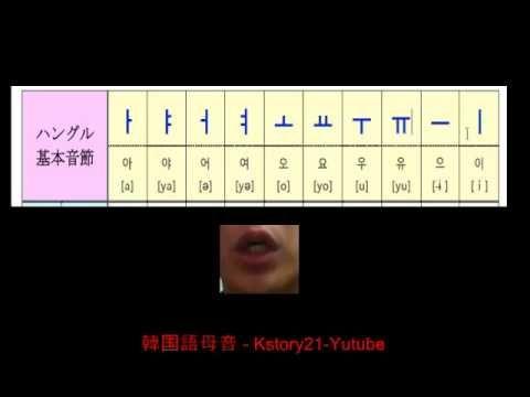 韓国語発音001-母音 / Korean Pronunciation 001-Vowels