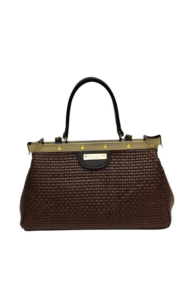 Woven leather doctors bag