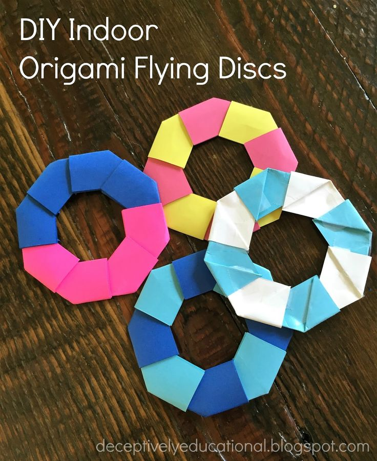 Relentlessly Fun, Deceptively Educational: DIY Indoor Origami Flying Discs
