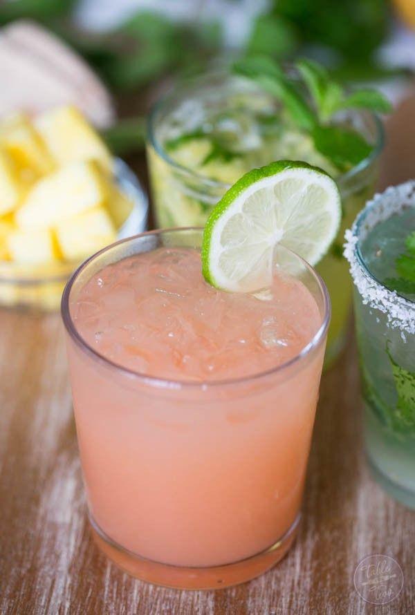 Grapefruit plus booze equals a delicious paloma!