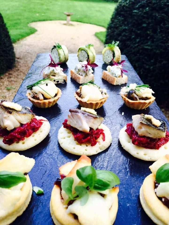 Our homemade canapes ready for a corporate event