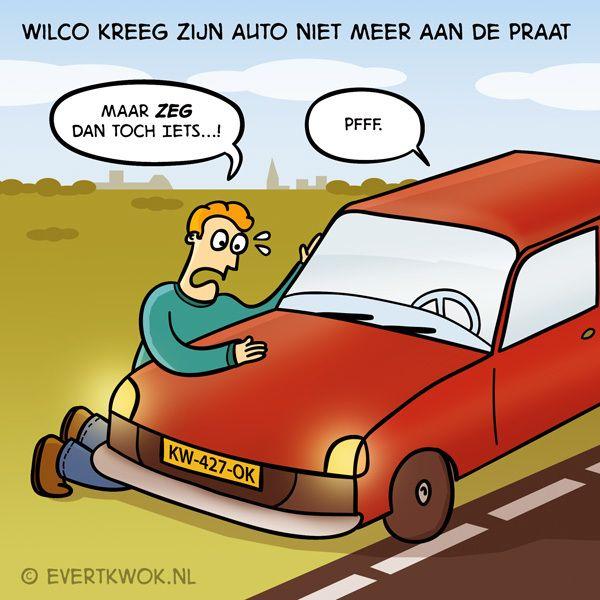 Maar zeg dan toch iets! #cartoon -Evert Kwok