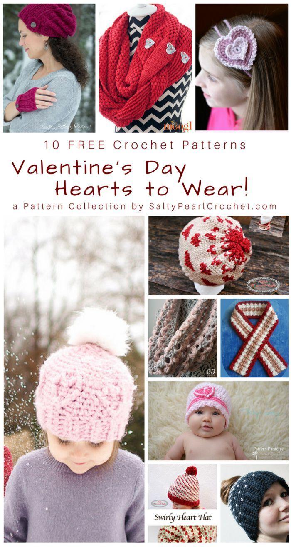 Pattern Collection 10 Free Valentine Crochet Wearables Crochet