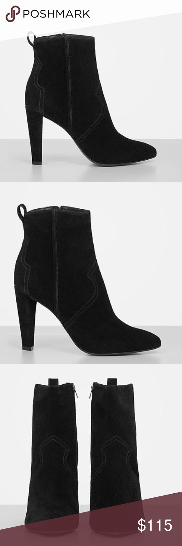 Madlyn Suede Heels - AllSaints Suede heels from AllSaints. BRAND NEW without the box! Size 39 equivalent to a size 7.5/8. They do run on the larger side so perfect for a size 8! All Saints Shoes Heeled Boots