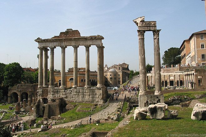 Roman Forum and Temple of Vespasianus