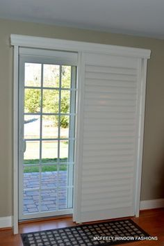 Custom Plantation Shutters For Sliding Glass Door By McFeely Window Fashions