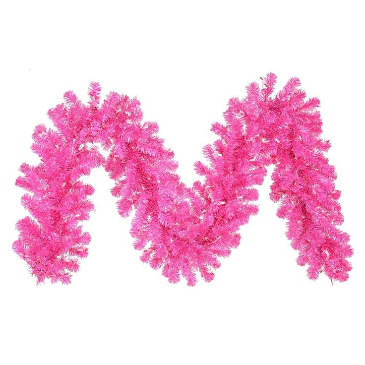 Vickerman 9-foot x 12-inch Hot Pink Garland with 70 Pink LED Lights (9' x 12 Hot Pink and Dural LED 70Pnk) (Plastic)