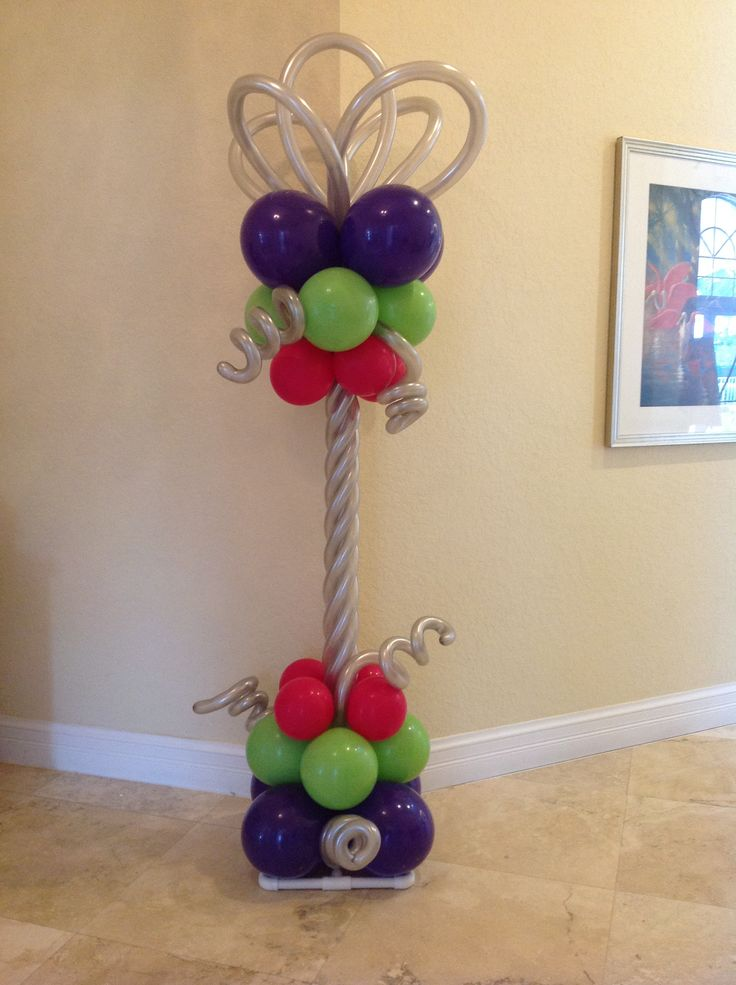 731 best images about balloon columns pillars decoration for Balloon column decoration