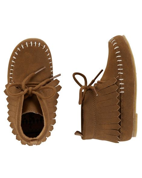 Toddler Girl Carter's Moccasin Ankle Boots   Carters.com