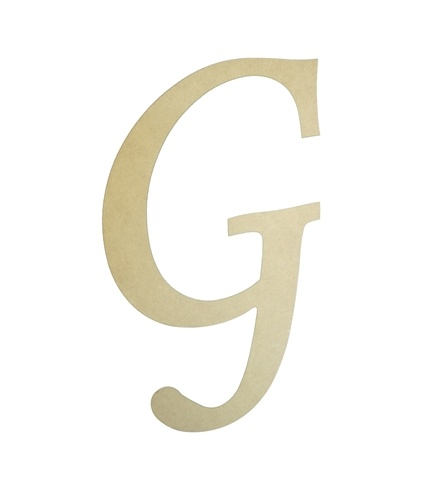 Unfinished Wooden Letters G Wall Decor Paintable Letter