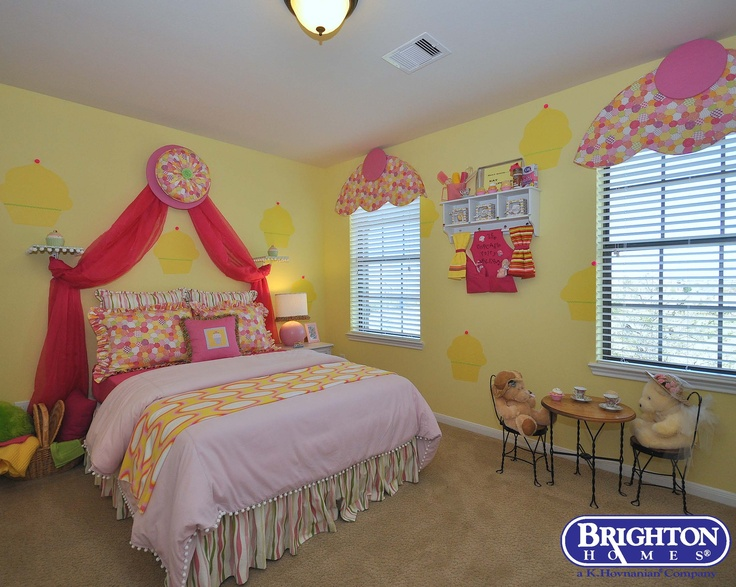 #cupcake #bedroom #girls room - cute idea for a girls bedroom! Stanley model at Lakemont Shores   Brighton Homes®