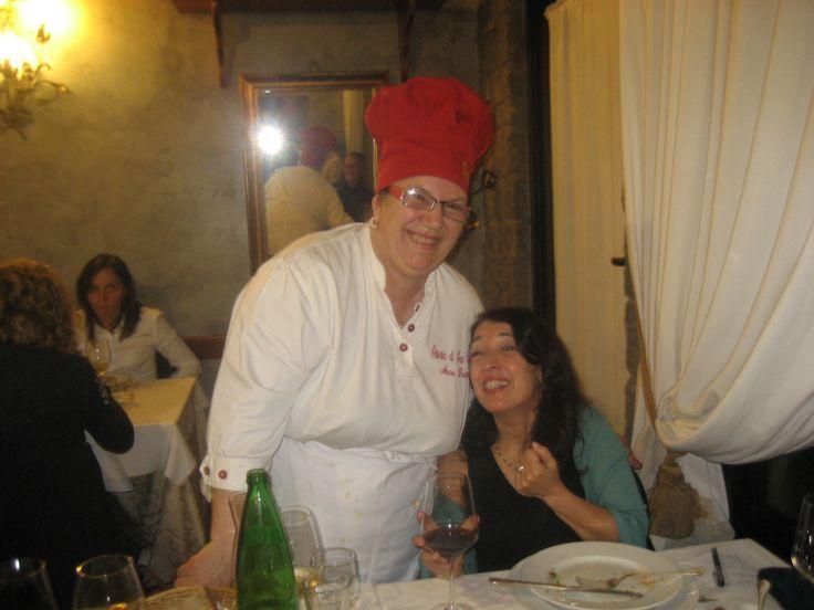 Anna Dente, aka Queen of Amatriciana, of Osteria di San Cesario, Castelli Romani==a Place Every Woman Should Go! www.annadente.it