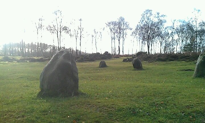 Nine Ladies Stone Circle in Bakewell, Derbyshire