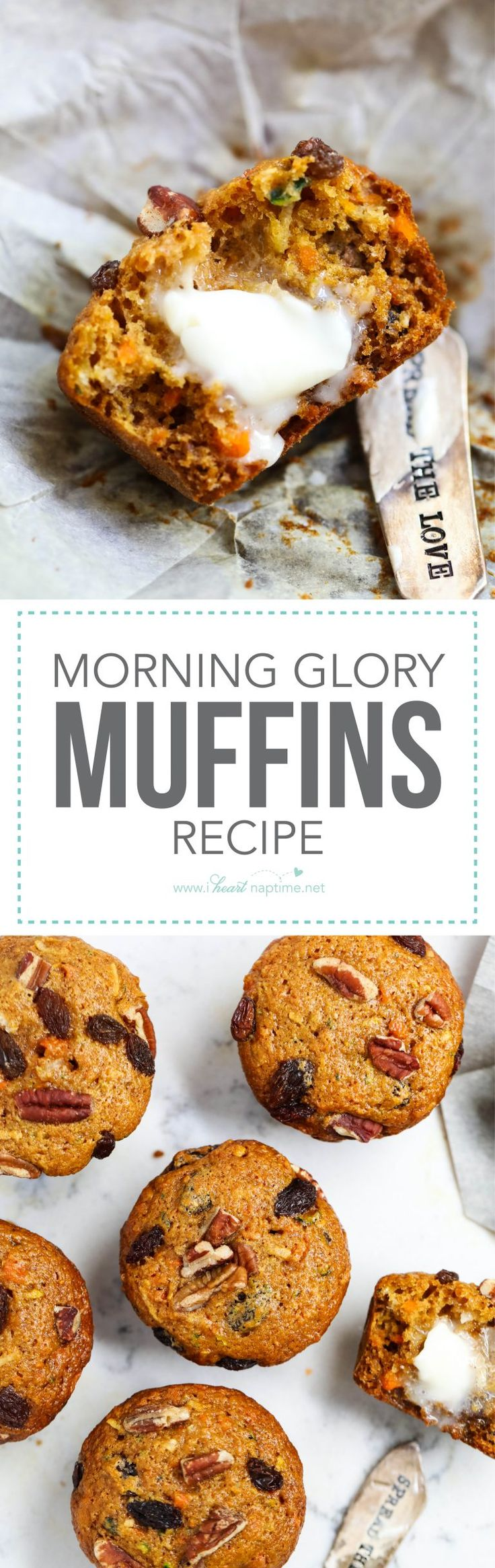 Today I'm sharing my favorite morning glory muffin recipe. These are are hearty, healthy and delicious! They are also packed full of veggies and perfect for freezing.