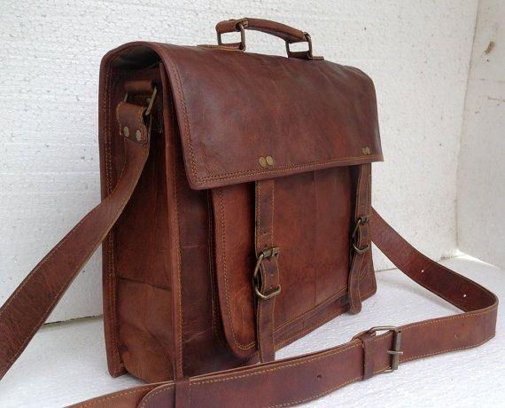 Renaissance Men Leather Messenger Bag Leather Satchel Perfect School Bag College Bag Office Bag on Etsy, $54.00