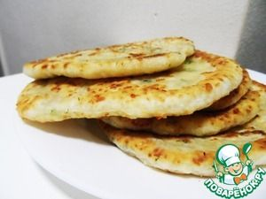 Сырные лепешки с зеленью за 15 минут