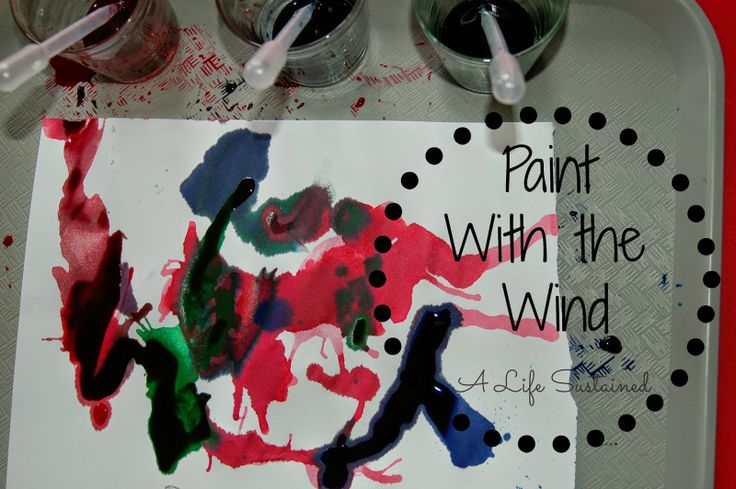 Paint With The Wind :: Toddler and Preschool Open Ended Art Project :: Reggio Provocation :: Waldorf Craft :: Montessori Activity :: From A Life Sustained