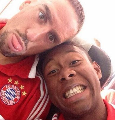 Franck Ribéry and David Alaba