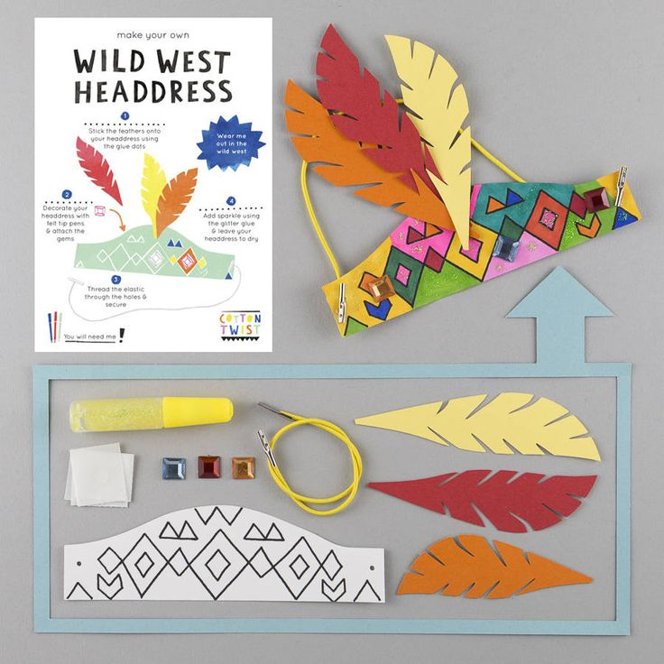 Make A Wild West Headdress Kit