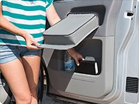 The storage compartment below remains accessible: simply tip up the MULTIBOX when the door is open.