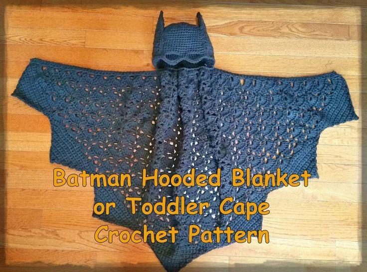Batman Hooded Blanket or Toddler Cape Crochet Patt   Craftsy