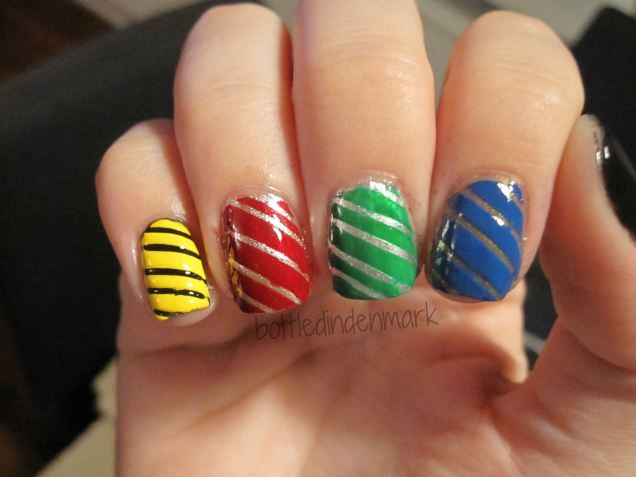 #31DC2015 #Day23 Inspired by a movie - Harry Potter Nails