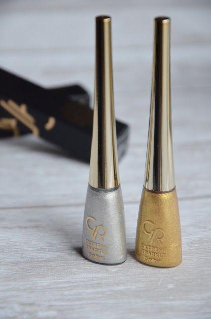 Extreme sparkle | brokatowy eyeliner Golden Rose.