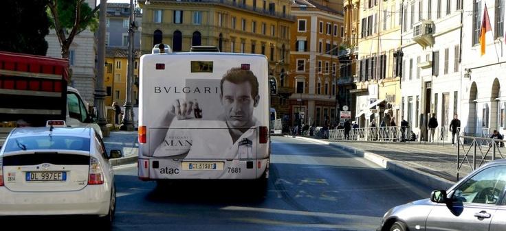 Bulgari adv. Pubblicità dinamica urbana.