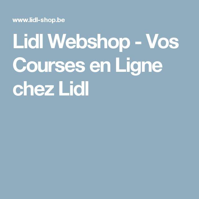 Lidl Webshop - Vos Courses en Ligne chez Lidl