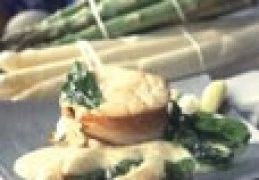 Recept voor Medaillons van kabeljauw met spek en asperges