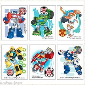 Transformers Tattoos X 12 Birthday Supplies Party Favours Rescue Bots | eBay