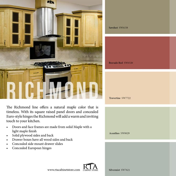 Kitchen Furniture Richmond: Color Palette To Go With Our Richmond Kitchen Cabinet Line