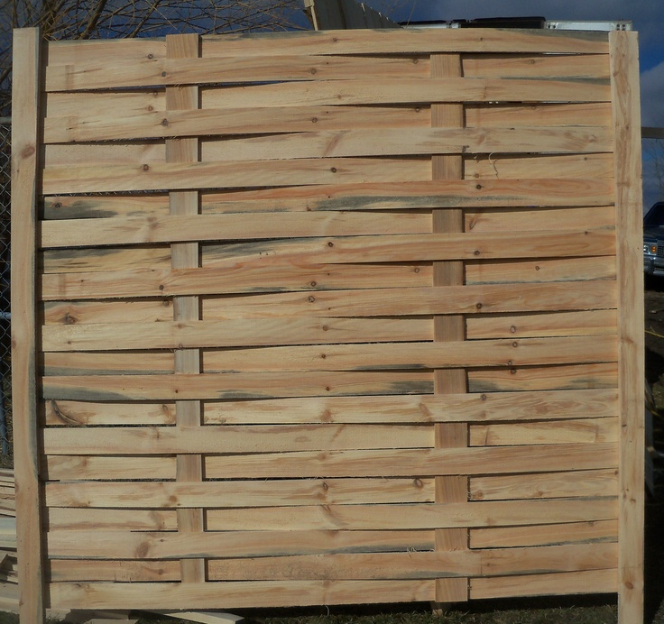 how to build a basket wooden weave fence