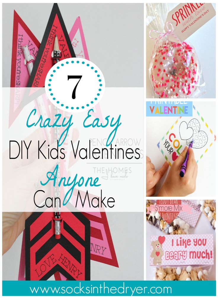 Easy DIY Kids Valentines. These are seriously the simplest school Valentines I've ever seen!