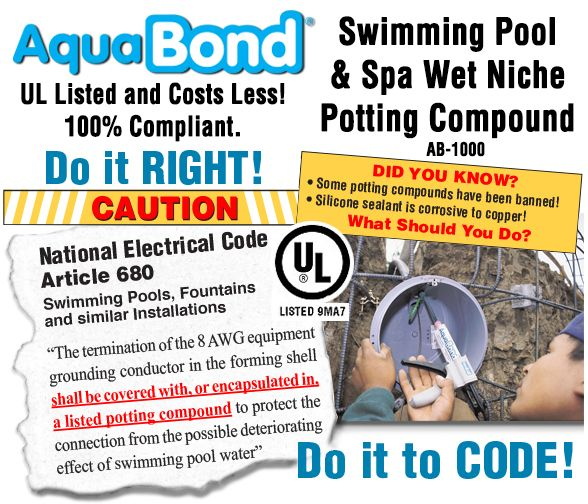 9 best images about aquabond products on pinterest - Swimming pool lighting requirements ...