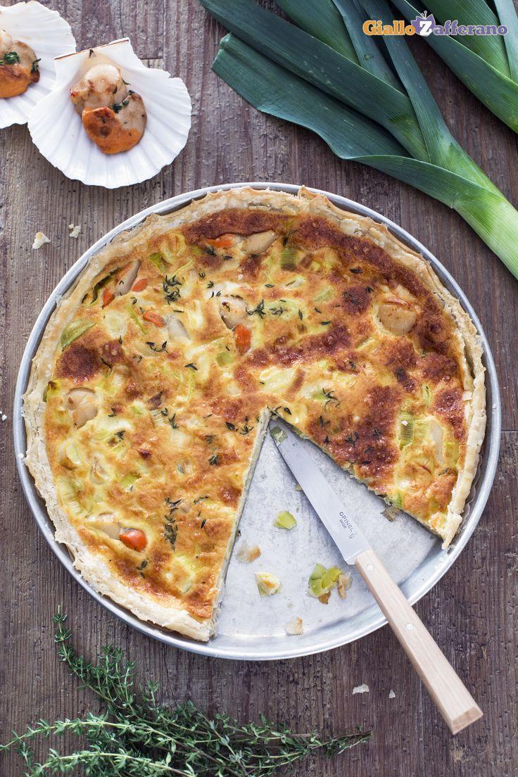 Anche una quiche capesante e porri può diventare molto chic per una cenetta romantica! #ricetta #GialloZafferano #italianfood #italianrecipe