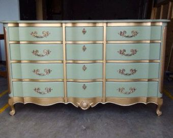 French Provincial Dresser w/Mirror (SOLD)