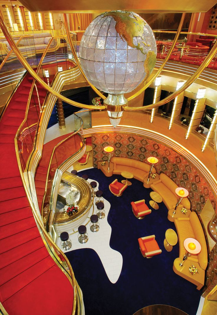 Dress it up and have a grand evening in Holland America's ms Oosterdam atrium. Talk about wow!!
