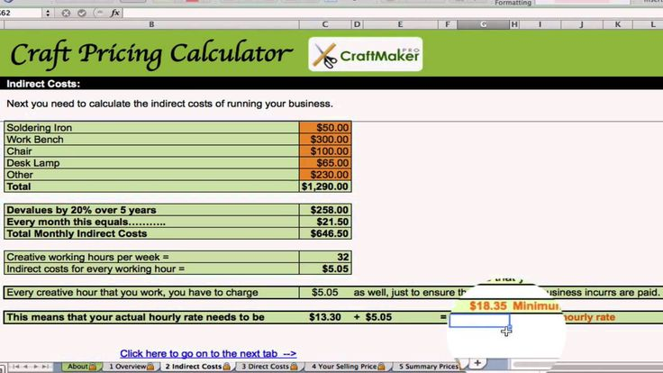 Free Craft and Jewelry Pricing Calculator Business