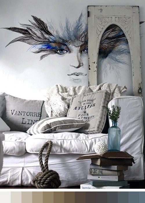 Murales decorativos que simulan ilustraciones for Murales decorativos pared
