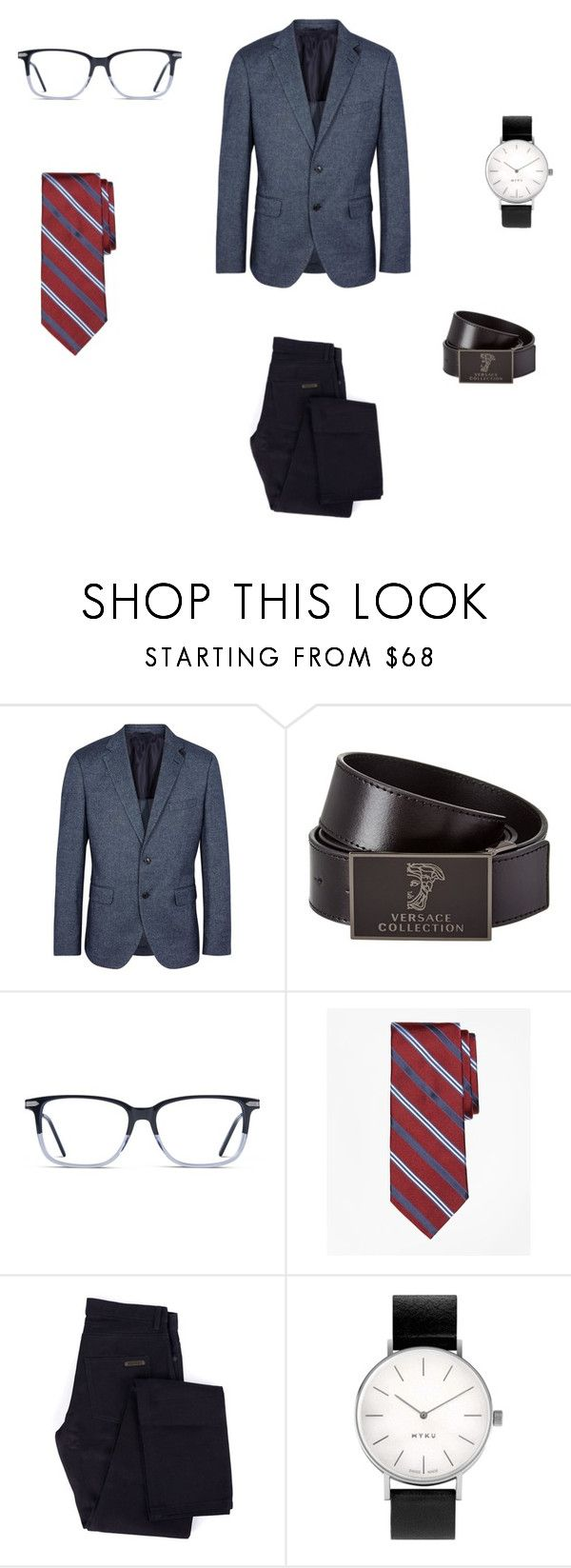 """man fashions"" by tereza17-novakova17 on Polyvore featuring BOSS Black, Versace, Brooks Brothers, Givenchy, Myku, men's fashion and menswear"