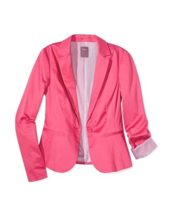 my new blazer: Hot Pink Blazers, Sateen Blazers, Pretty In Pink, Summer Colour, Bright Colour, Colour Blazers, Pink Jackets, Summer Blazers, Bright Blazers