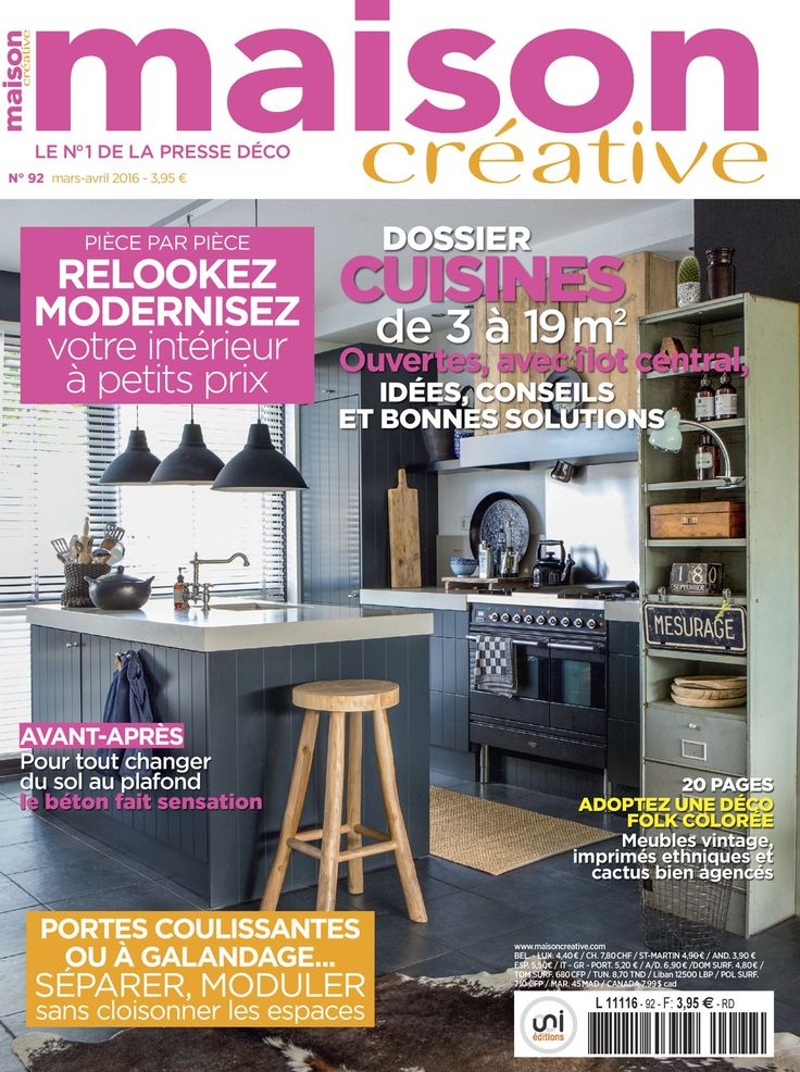 Maison creative magazine buy a subscription of maison creative magazine from the worlds largest online magazine cafe store in usa