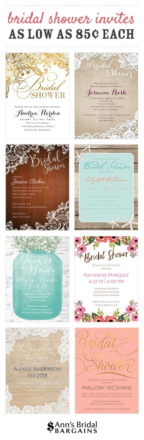 bridal shower invitations that are adorable and affordable the sweetest designs for showers from